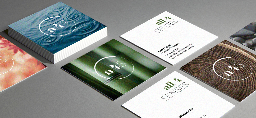 The range of business card designs